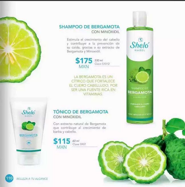 Shampoo y tónico de bergamota.