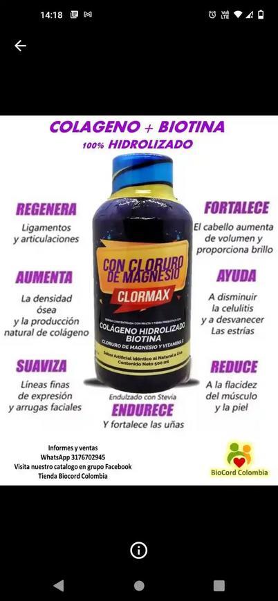 Colágeno hidrolizado + Biotina
