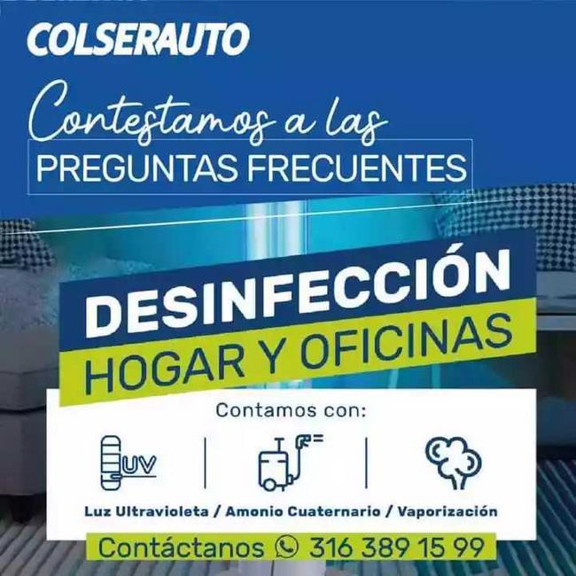 Desinfección para el hogar y/o oficina