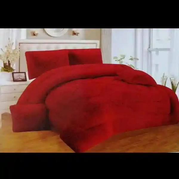 Edredones térmicos en peluche cama doble y queen 5 piezas