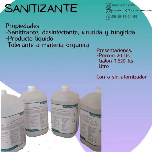 Sanitizante en diferentes presentaciones