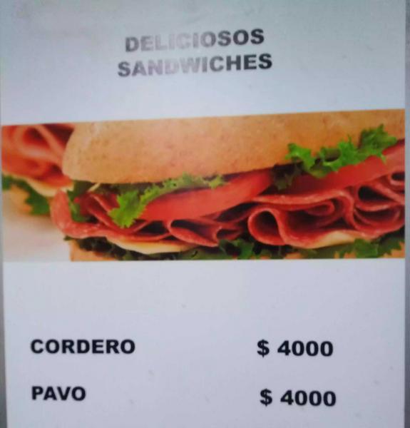 Sandwich de jamón de pavo ó cerdo
