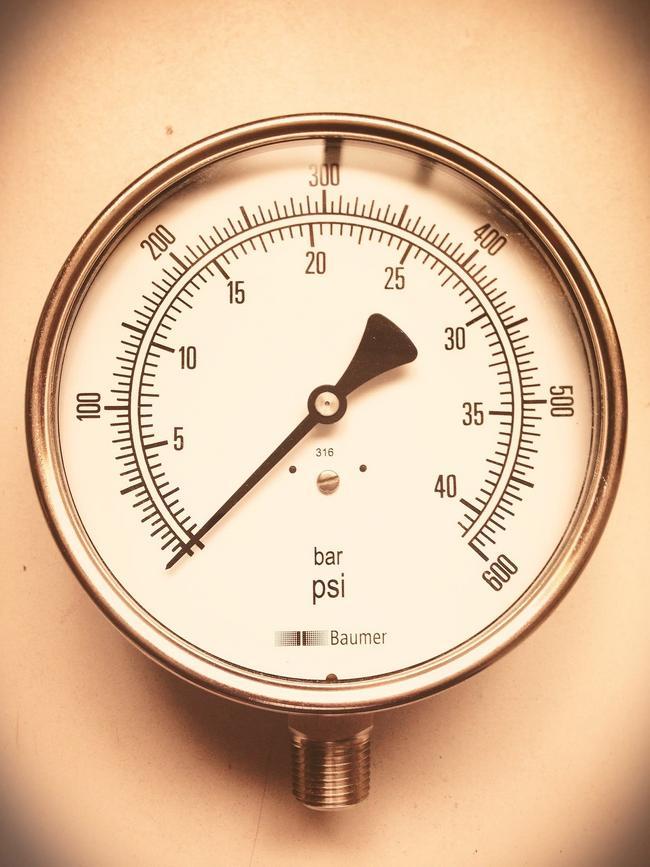 """Manómetro Dial 4"""" 100 PSI"""