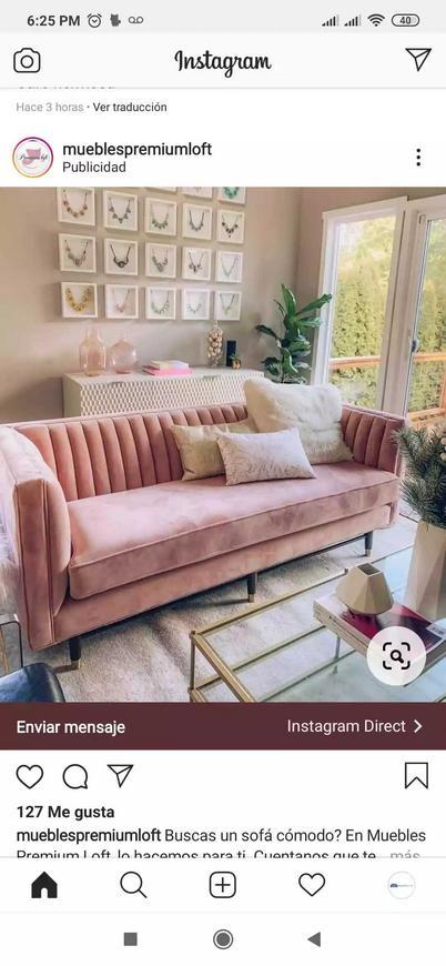 Sofá moderno de 2 puestos