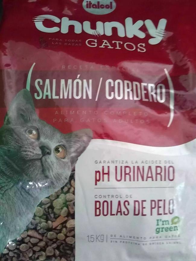 Chunky gatos salmón 2 Kg