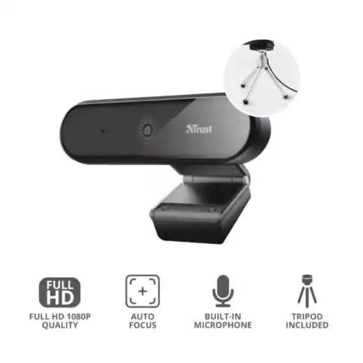 Cámara web trust 1080p más micrófono