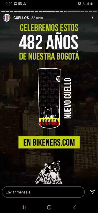 Cuello biker edición Bogotá