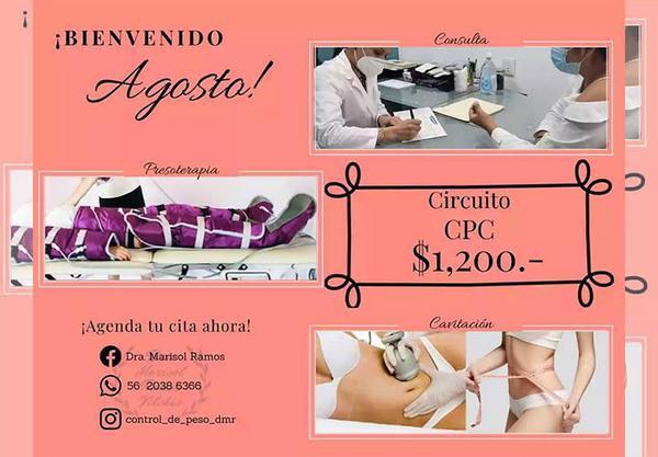 Consulta + Presoterapia + Cavitación