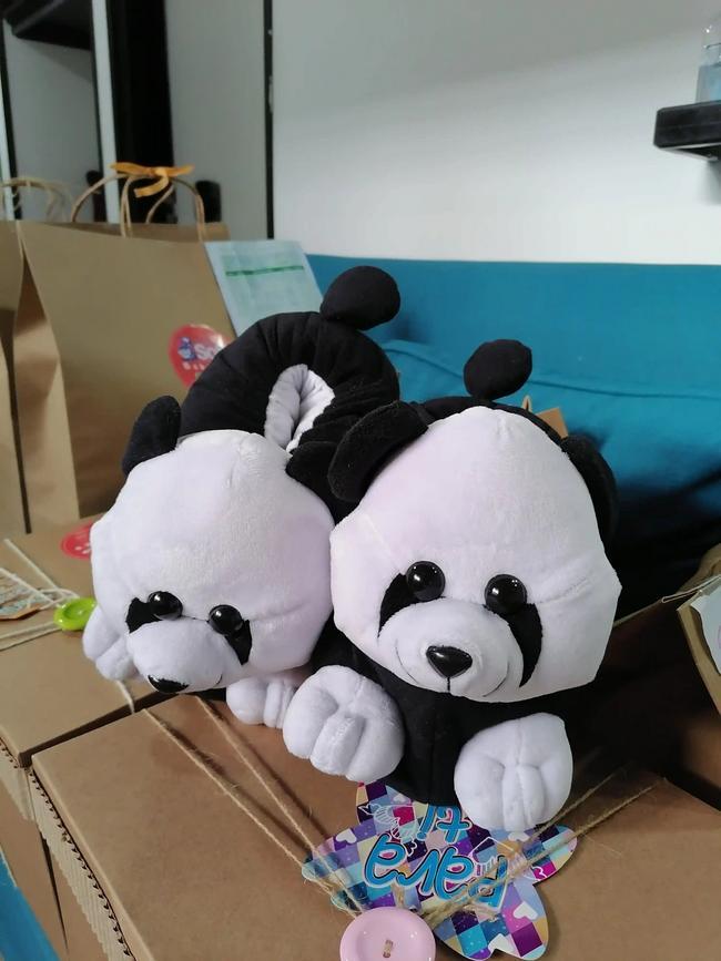 Babuchas de oso panda