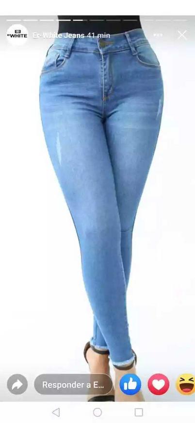 Jeans para dama realce de cola