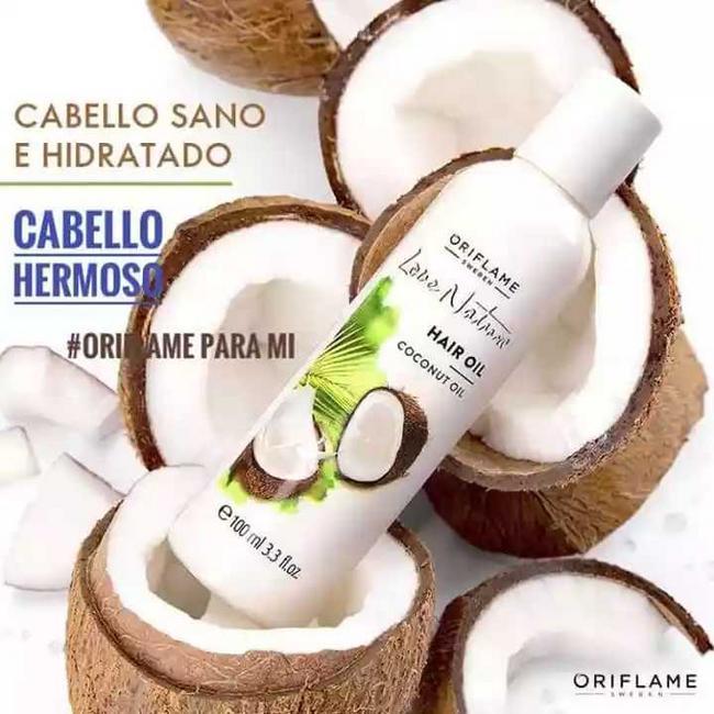 Aceite de coco Love Nature para cabello