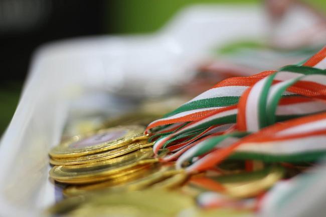 Medallas metálicas deportivas