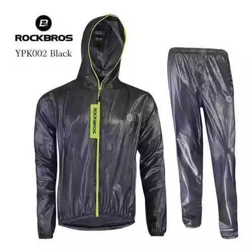 Impermeable Rockbros completo para ciclistas