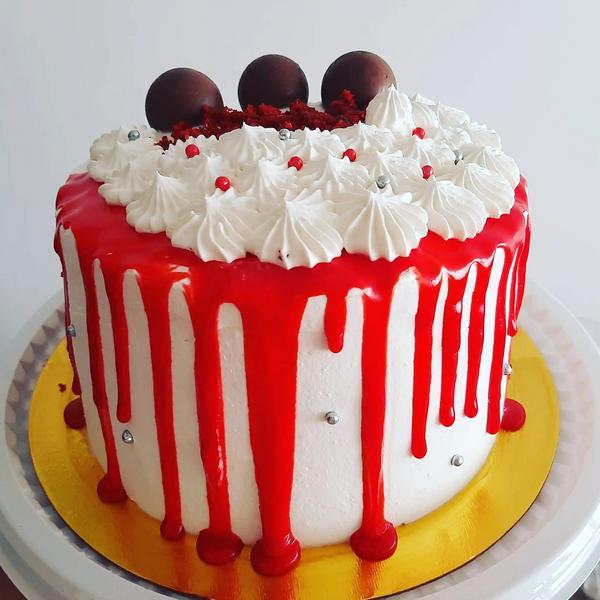 Drip cake de red velvet