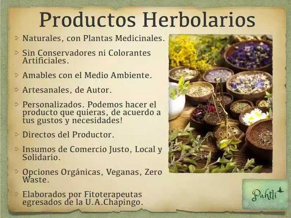 Pahtli. Productos herbolarios.$174 MXN.