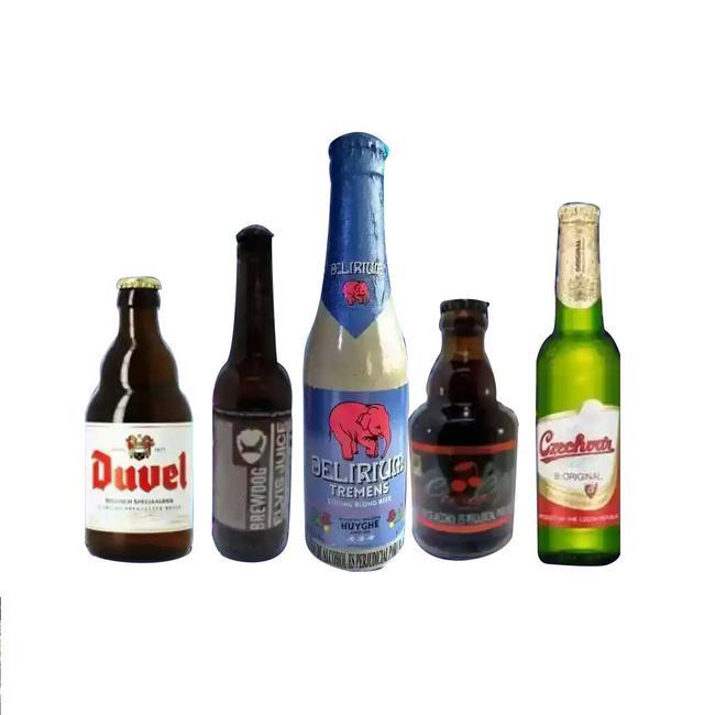 5 cervezas premium