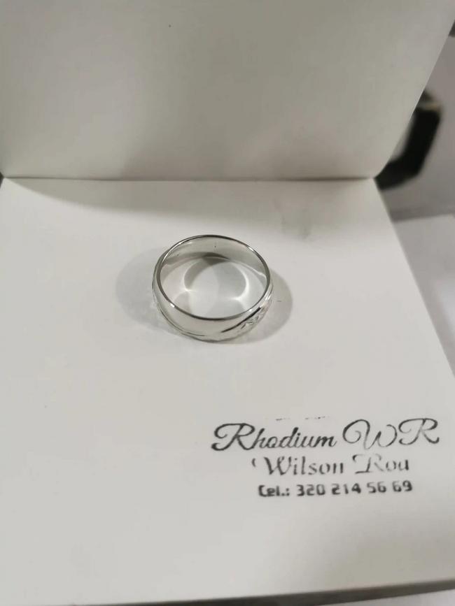 Baño de rodio en oro blanco y plata para anillos