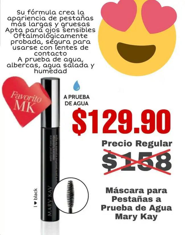 Luce unas pestañas hermosas, máscara a sólo $129.90 MXN