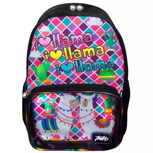 Maleta escolar diseño I Love Llama
