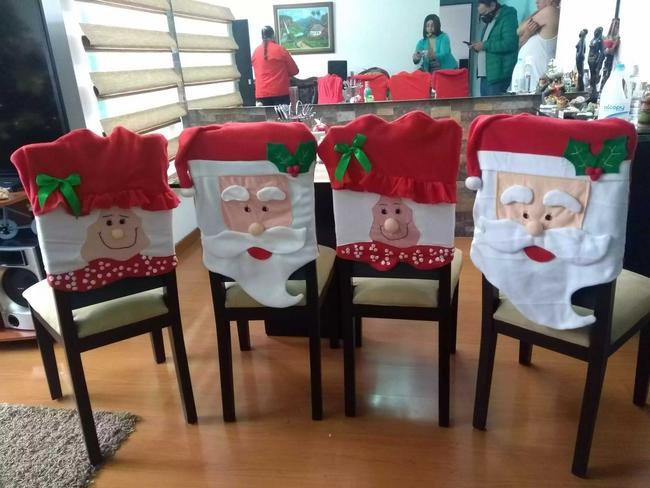 Forro navideño para sillas