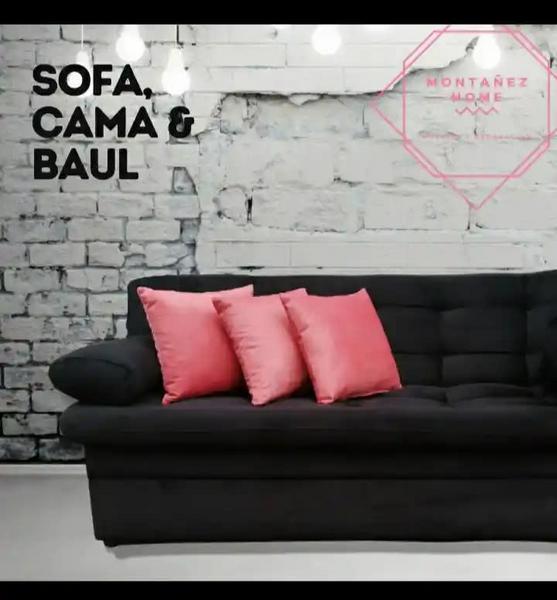 Sofá-cama con baúl