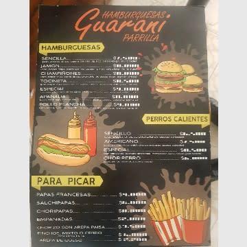Menú guaraní