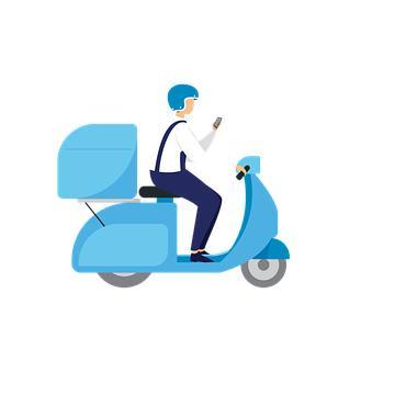 Mensajería en moto