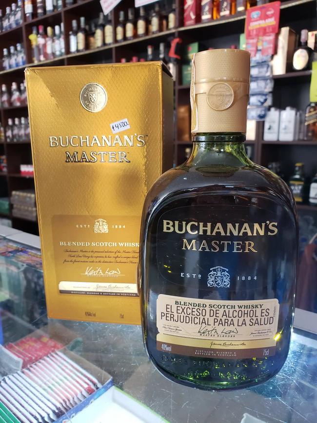 Botella de Buchanan's Master