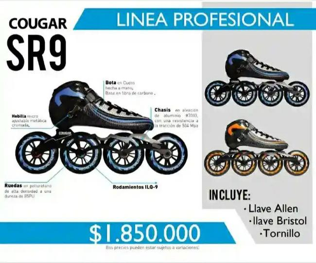 Patines profesionales Cougar SR9