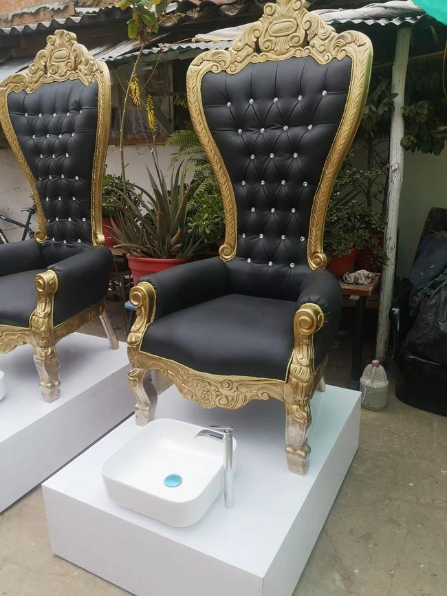 Silla trono azul
