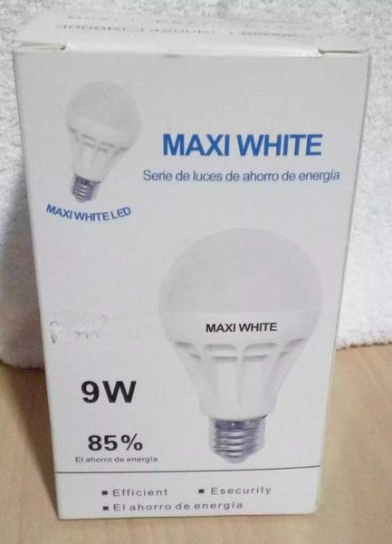 Bombillo Maxi White de 9w por unidad