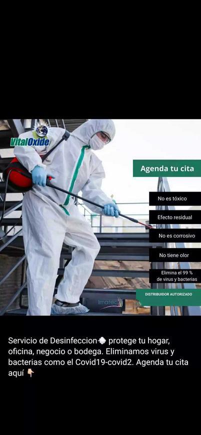 Desinfección por metro cuadrado