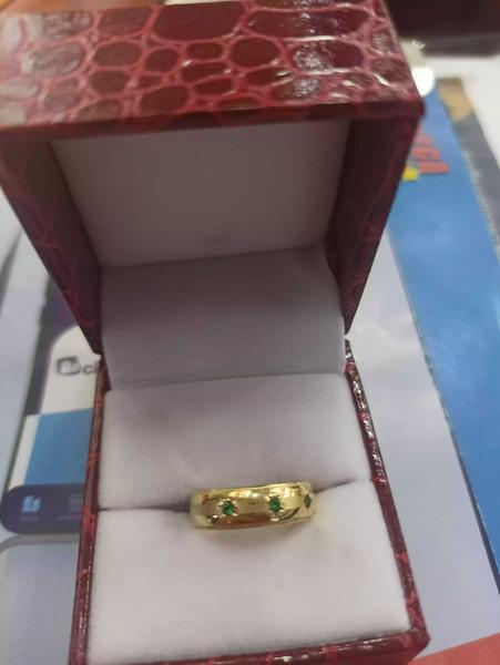 Argolla de mantrimonio en oro laminado con plata