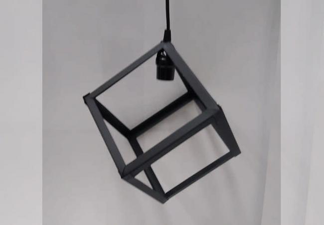Cubo vintage para iluminación