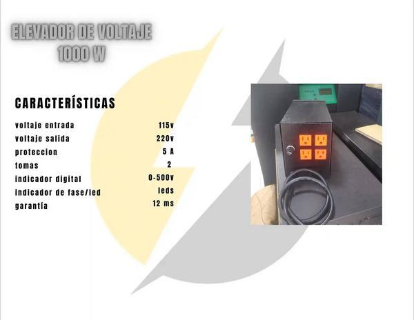 Elevadores y estabilizador de voltaje