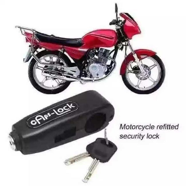 Candado seguro para manillar de moto y bicicleta