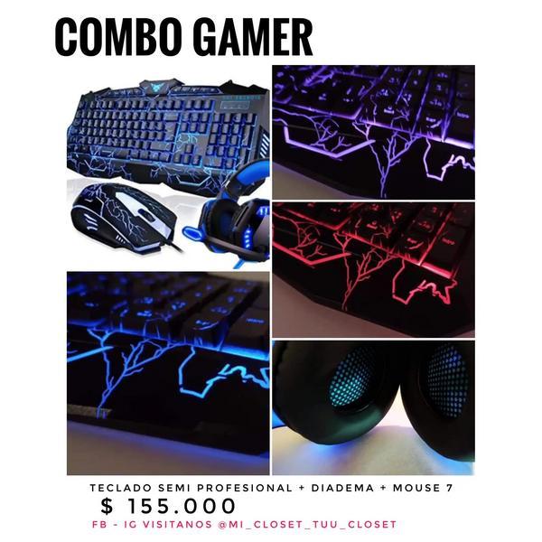 Combo Gamer teclado + Diadema + Mouse