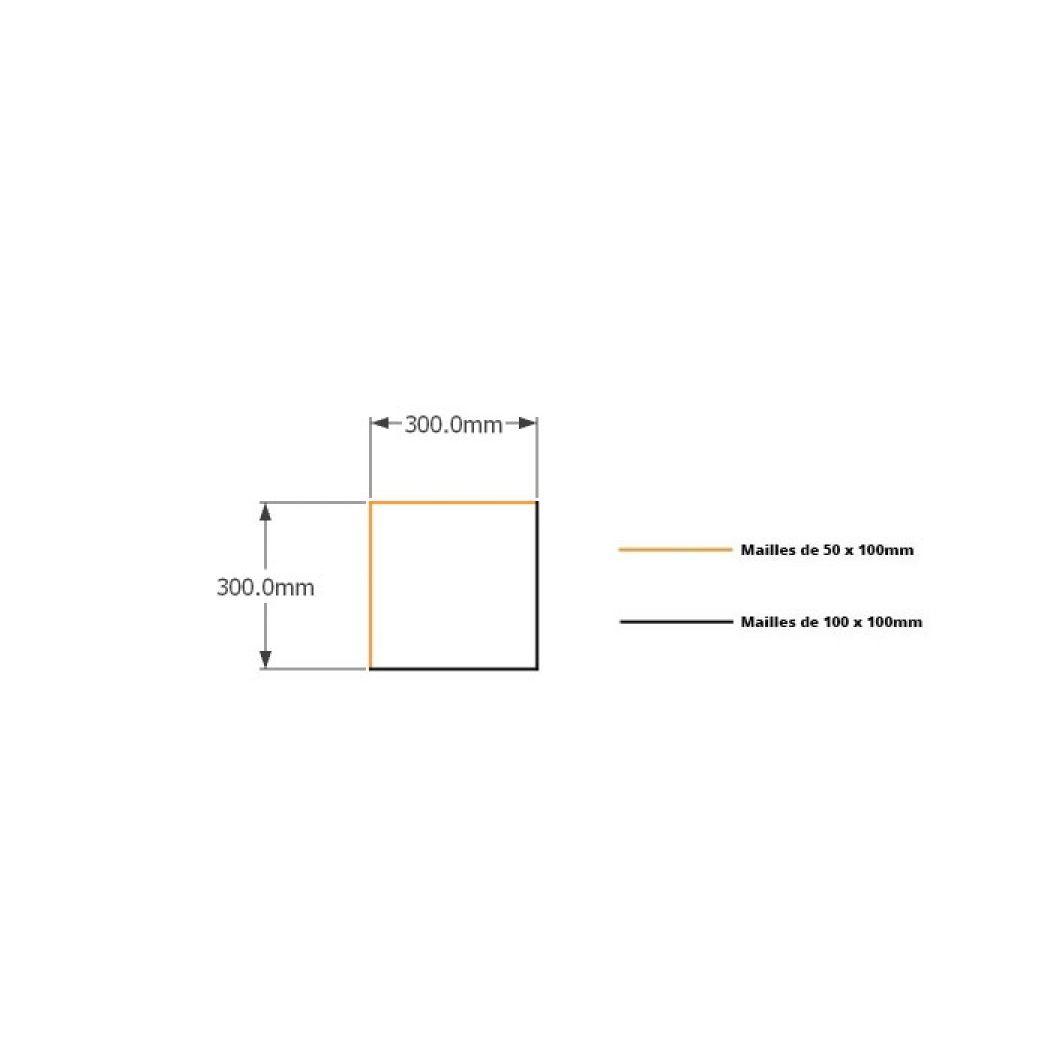 Kit gabions 30cm (H) x 30cm (L), pour soutènement
