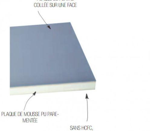 Complexe de doublage plâtre/polyurethane