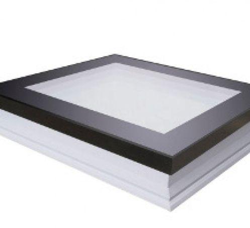Fenêtre plane fixe pour toit plat, triple vitrage