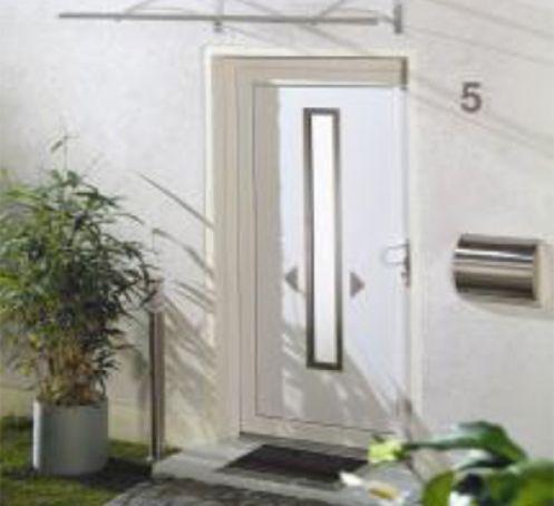 Marquise pour porte d'entrée Lisbonne 160x90 Blanc