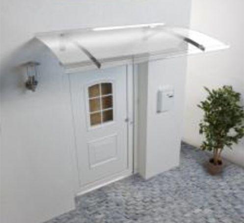 Marquise pour porte d'entrée Secco 150x90 Inox