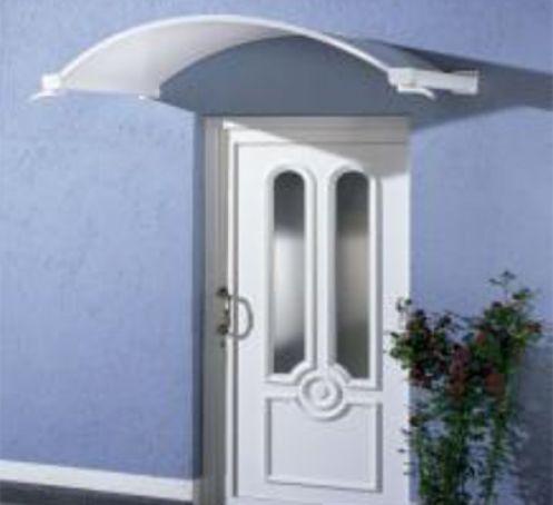 Marquise pour porte d'entrée Noblesse 160x90 Blanc