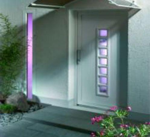 Marquise pour porte d'entrée SP160 150x90 Blanc