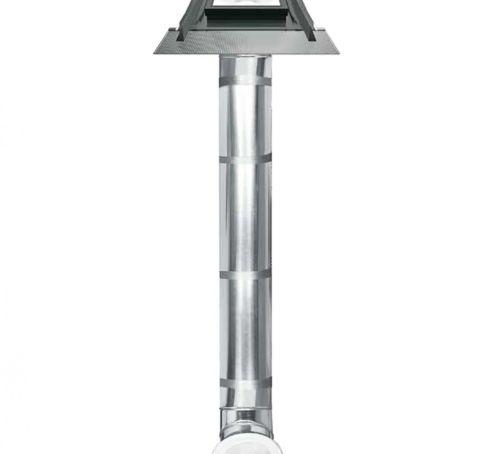 Puit de lumière rigide, verre trempé, couverture plate