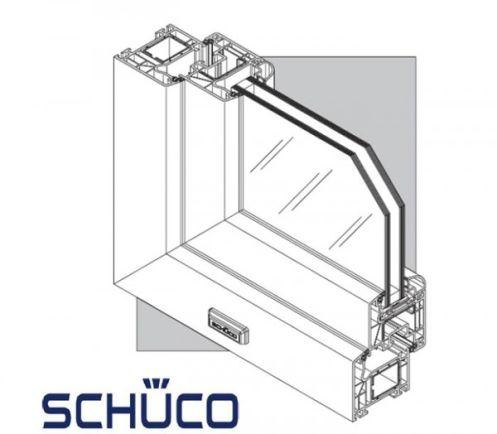 Fenêtre CORONA70, PVC blanc 1 vantail