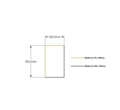 Kit gabions  50cm(H) x30cm (L), pour soutènement