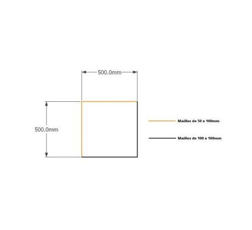 Kit gabions 50cm (H) x 50cm (L), pour soutènement