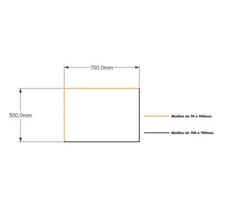 Kit gabions 50cm (H) x 70cm (L), pour soutènement