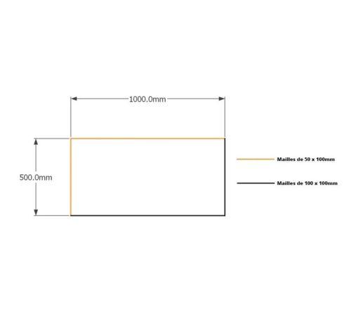 Kit gabions 50cm (H) x 100cm (L), pour soutènement